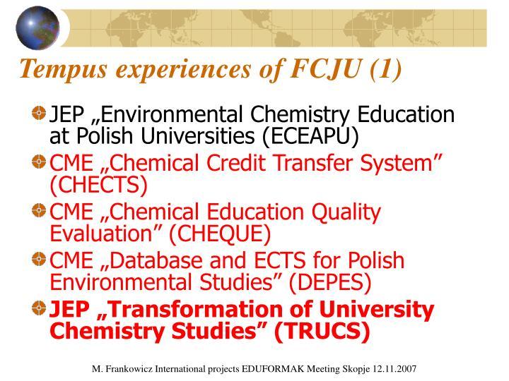 Tempus experiences of FCJU (1)