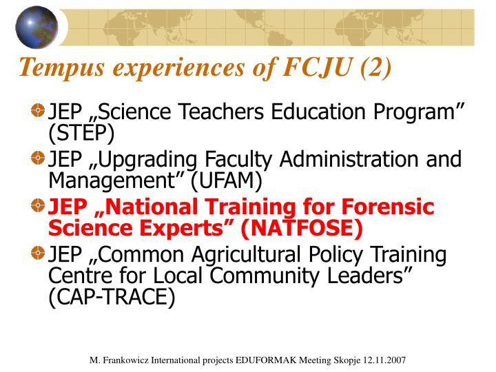 Tempus experiences of FCJU (2)