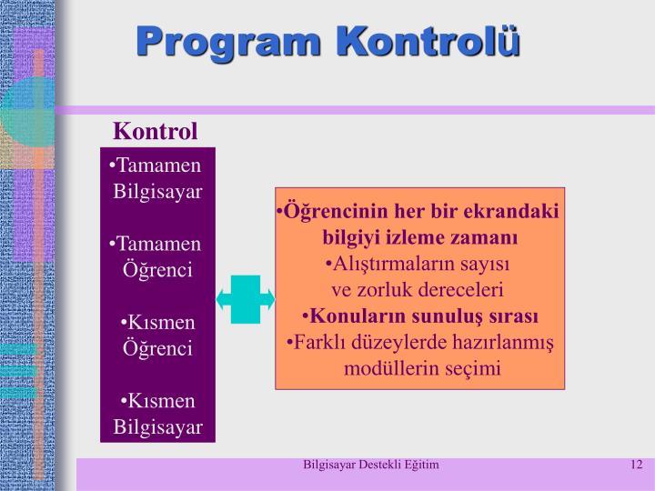 Program Kontrol