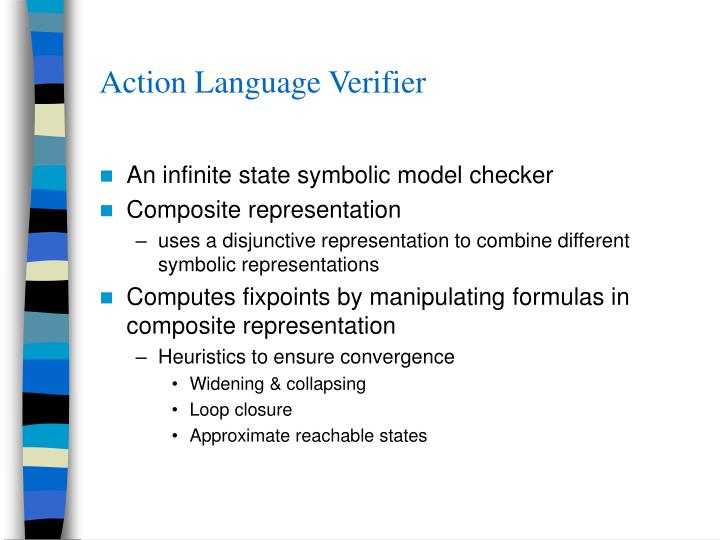 Action Language Verifier