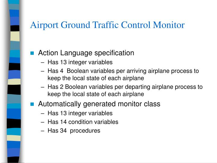 Airport Ground Traffic Control Monitor