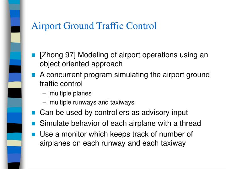 Airport Ground Traffic Control