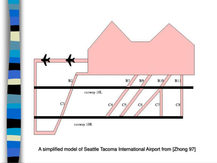A simplified model of Seattle Tacoma International Airport from [Zhong 97]