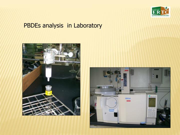 PBDEs analysis  in Laboratory