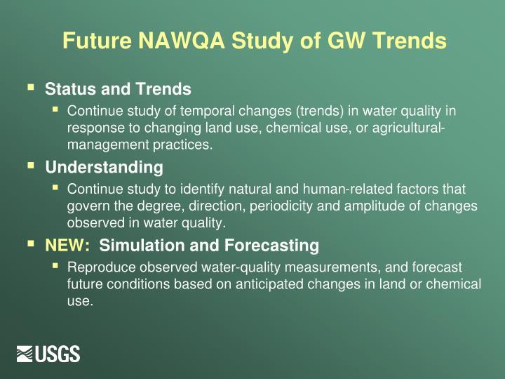 Future NAWQA Study of GW Trends