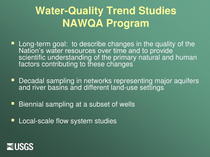 Water-Quality Trend Studies