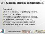3 1 classical electoral competition 1 3
