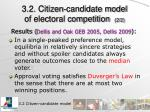 3 2 citizen candidate model of electoral competition 2 2