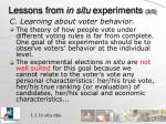 lessons from in situ experiments 3 5