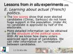 lessons from in situ experiments 5 5