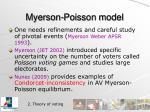 myerson poisson model
