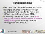 participation bias