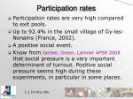 participation rates