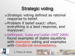 strategic voting