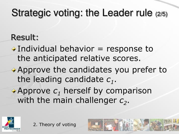 Strategic voting: the Leader rule