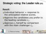 strategic voting the leader rule 2 5