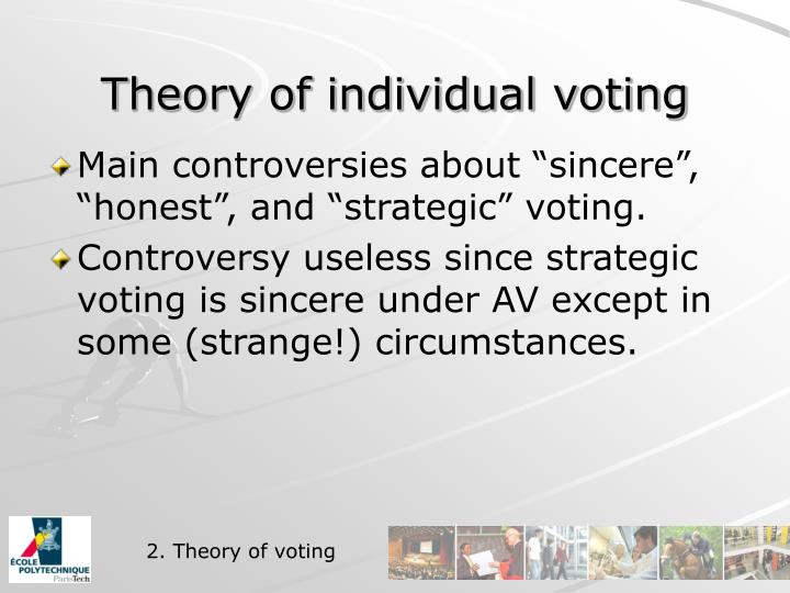 Theory of individual voting