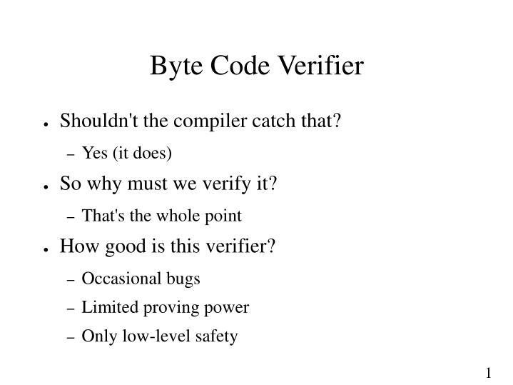 Byte Code Verifier
