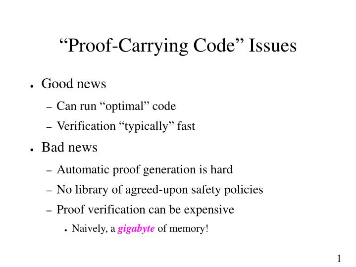 """Proof-Carrying Code"" Issues"