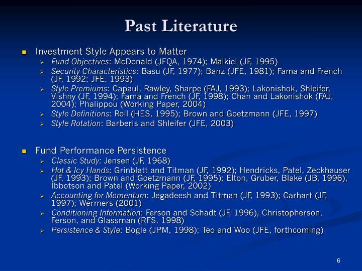 Past Literature