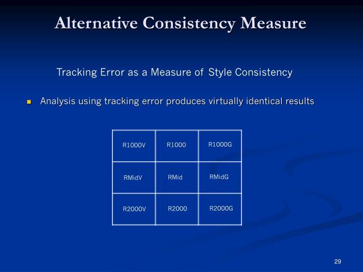 Alternative Consistency Measure