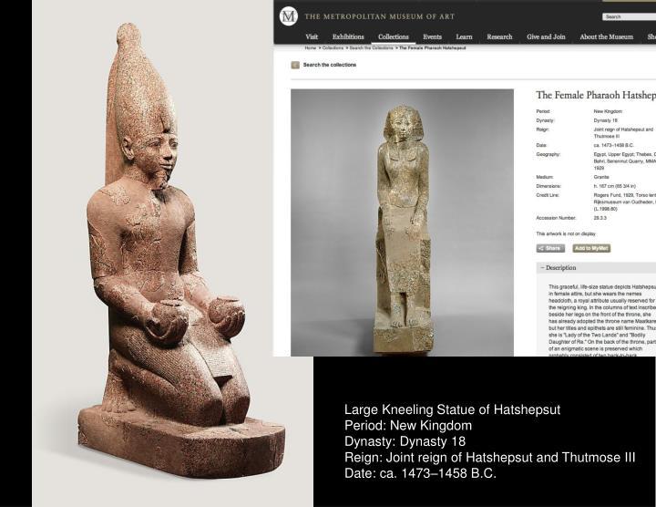 Large Kneeling Statue of Hatshepsut