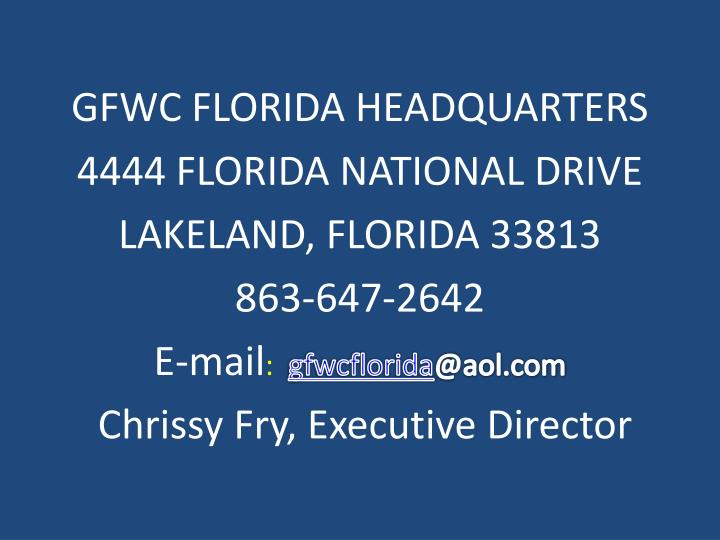 GFWC FLORIDA HEADQUARTERS