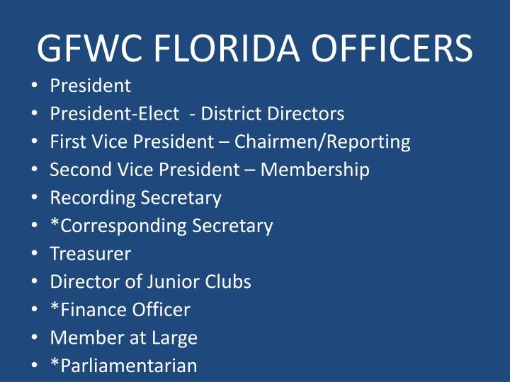 GFWC FLORIDA OFFICERS