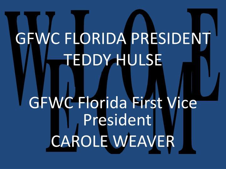 GFWC FLORIDA PRESIDENT