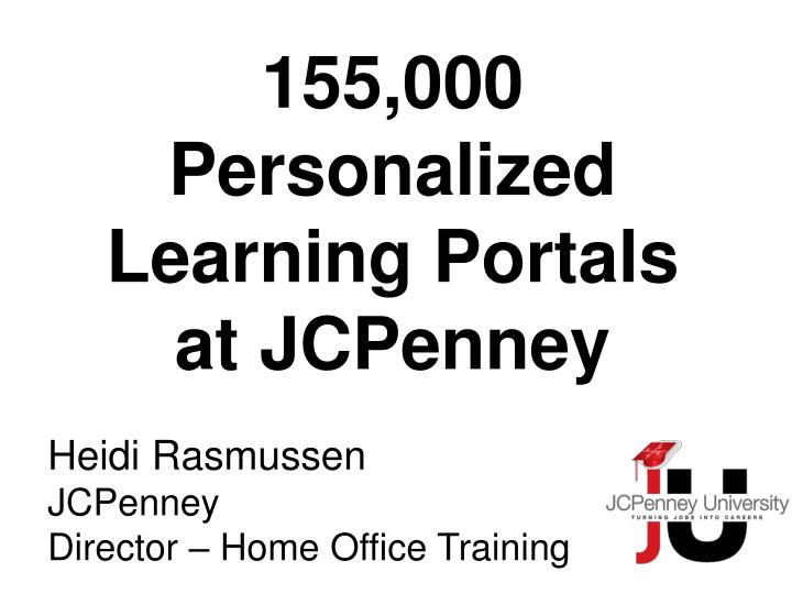 Heidi rasmussen jcpenney director home office training