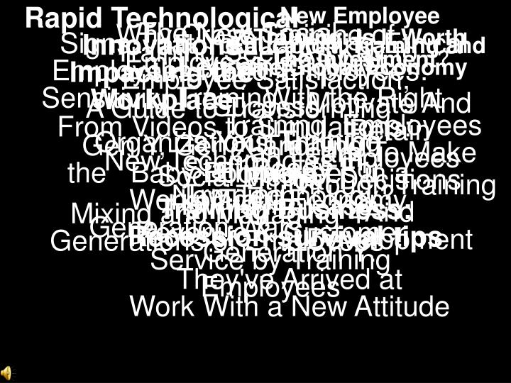 Rapid Technological Innovations Impacting the Workplace