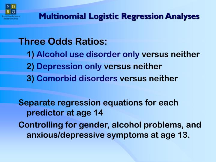 Multinomial Logistic Regression Analyses