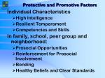 protective and promotive factors