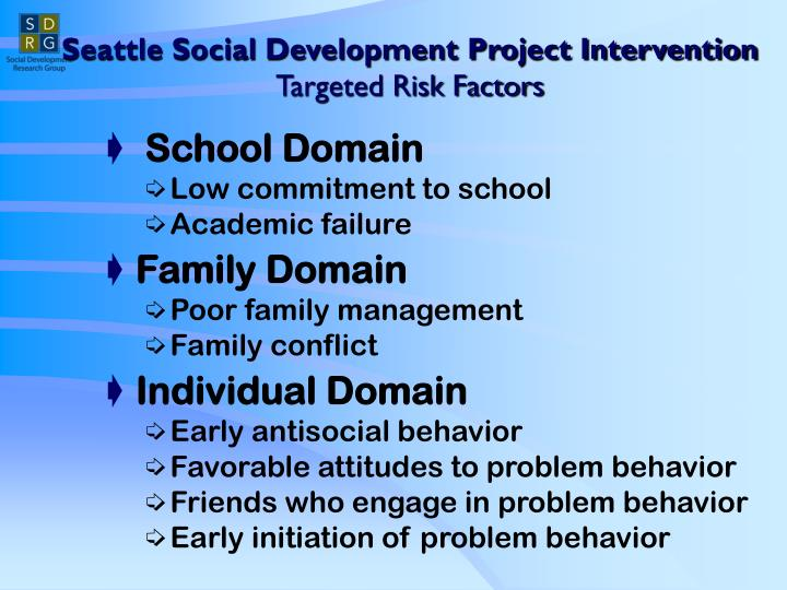 Seattle Social Development Project Intervention