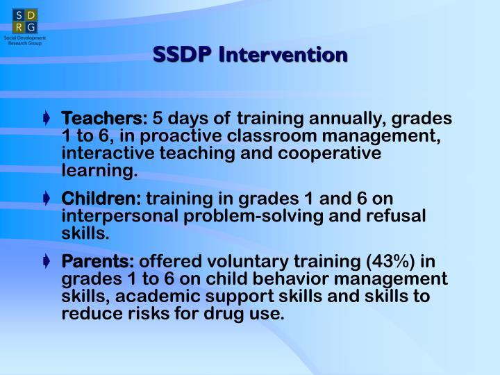 SSDP Intervention