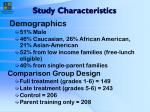 study characteristics