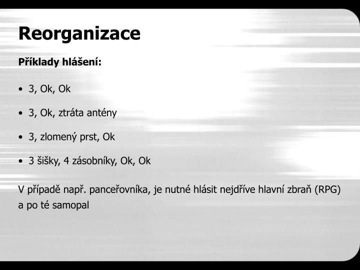 Reorganizace