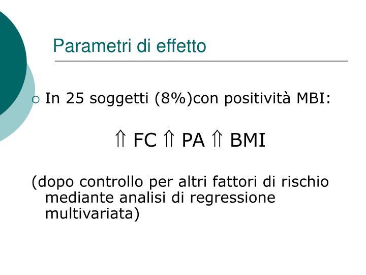 Parametri di effetto
