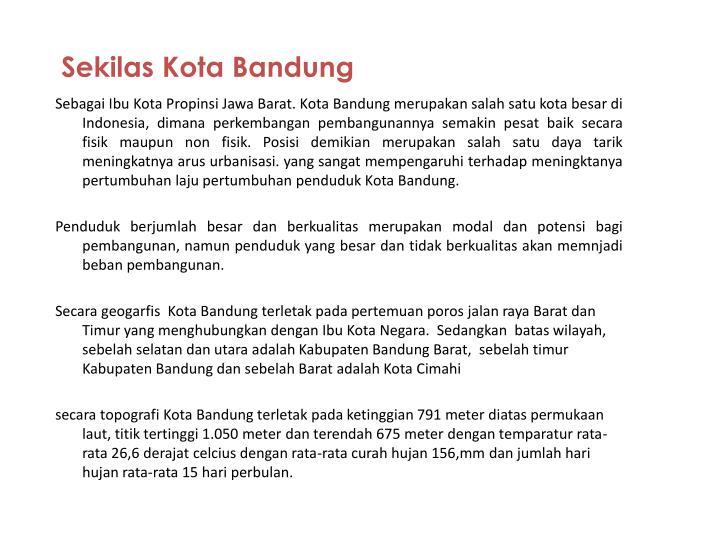 Sekilas Kota Bandung