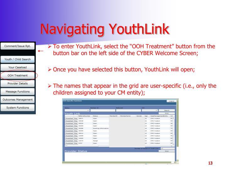 Navigating YouthLink