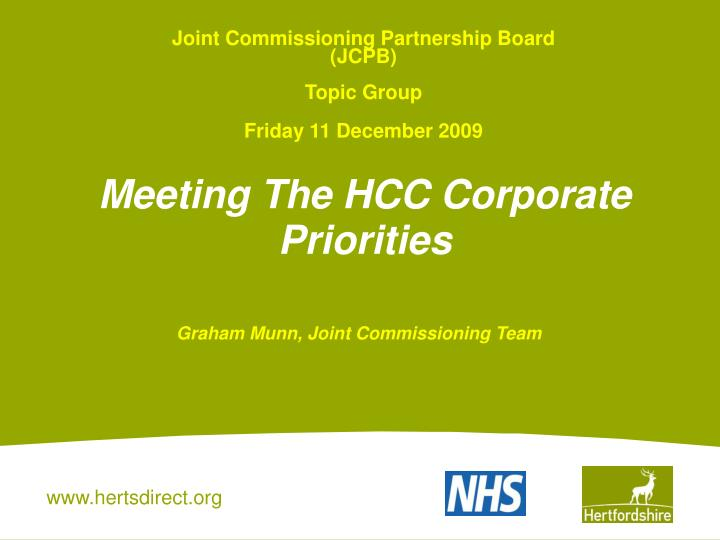 Joint Commissioning Partnership Board