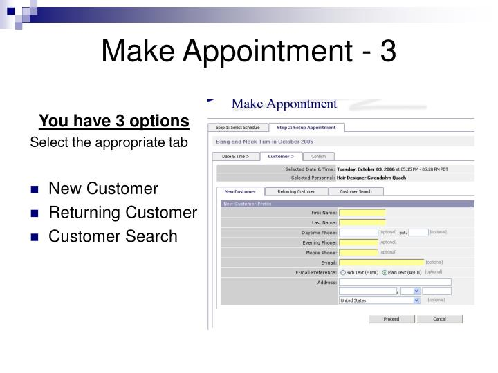 Make Appointment - 3