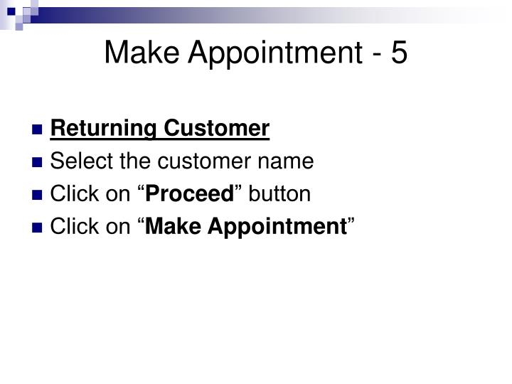 Make Appointment - 5