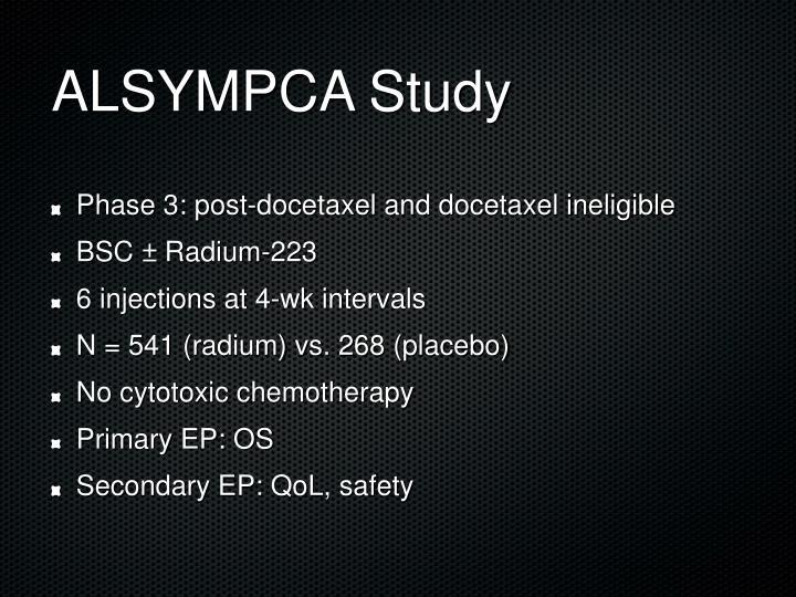 ALSYMPCA Study