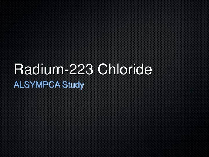 Radium-223 Chloride