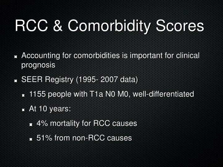 RCC & Comorbidity Scores