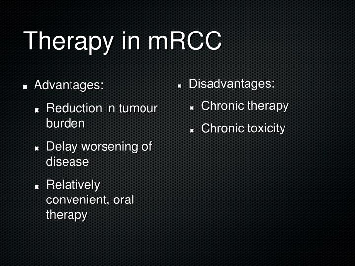 Therapy in mRCC