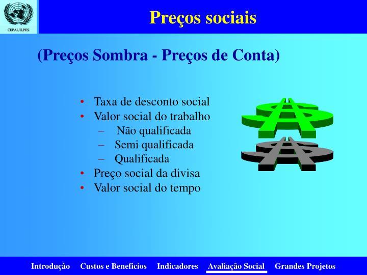 Preços sociais