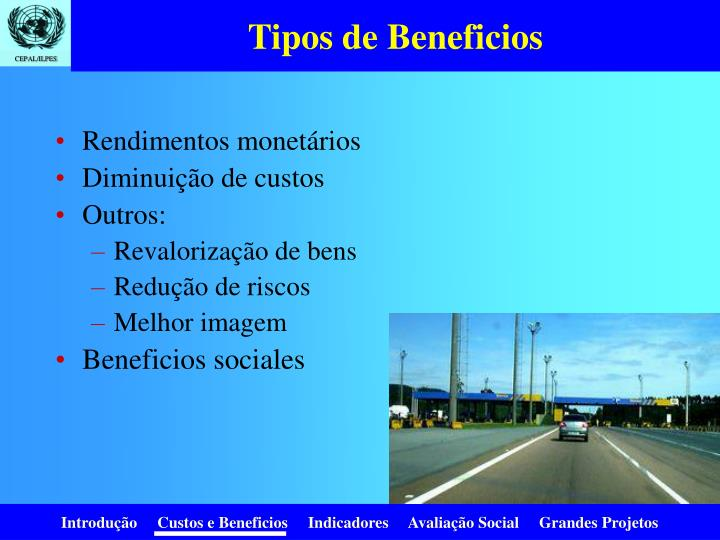 Tipos de Beneficios