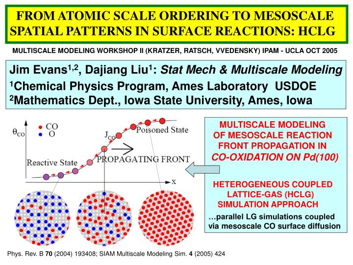 FROM ATOMIC SCALE ORDERING TO MESOSCALE